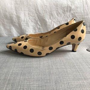Kate Spade polka dot kitten heels
